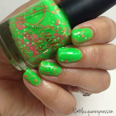 swatch of take it breezy nail polish from the life's a beach collection from delush polish