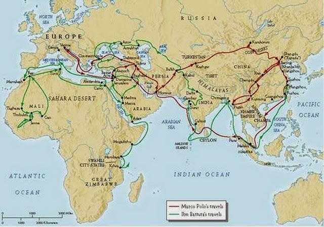 Peta Perjalanan Ibnu Batutah