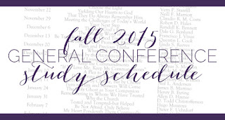 Fall 2015 General Conference Study Schedule