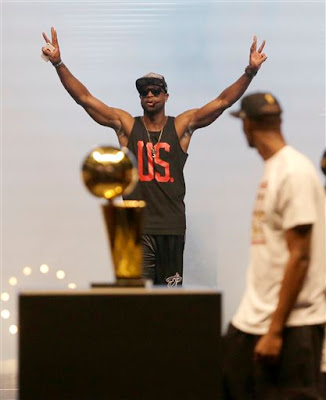 Dwayne Wade celebration 3