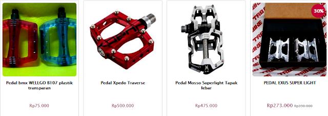 Spare part sepeda; harga pedal sepeda; cara memilih pedal sepeda
