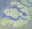 Figuur 2.1 Indeling van het beheergebied van Waterschap Scheldestromen in 127 watersysteemgebieden (afvoergebieden). De lijnvormige wateren binnen de afzonderlijke watersystemen worden geacht min of meer vergelijkbaar te zijn. Bron: Evaluatie waterkwaliteitsmeetnet Waterschap Scheldestromen, pag. 8