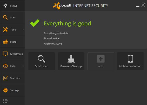 Avast! Internet Security 2014 Screenshot