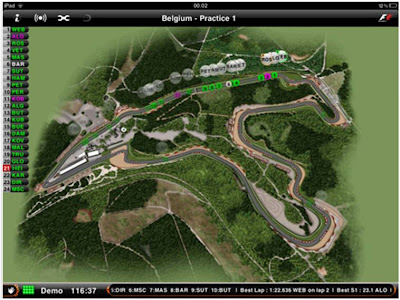 F1 Official Live Timing and Track position app