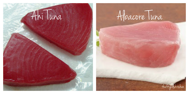 Difference between ahi tuna and albacore tuna fillets