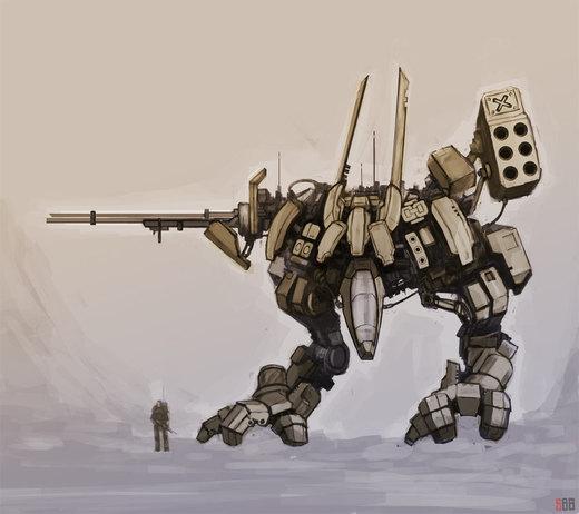 Mech sketch por rickystinger88