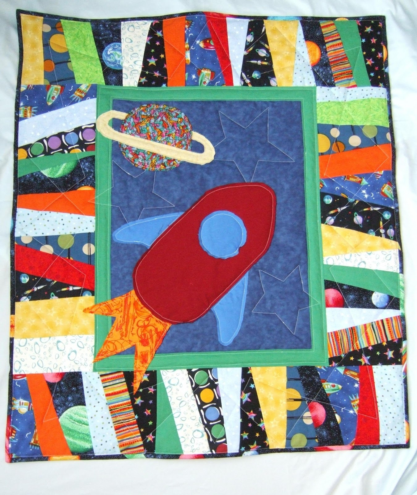 Lilyquilt blogger 39 s quilt festival blast off rocket for Outer space quilt