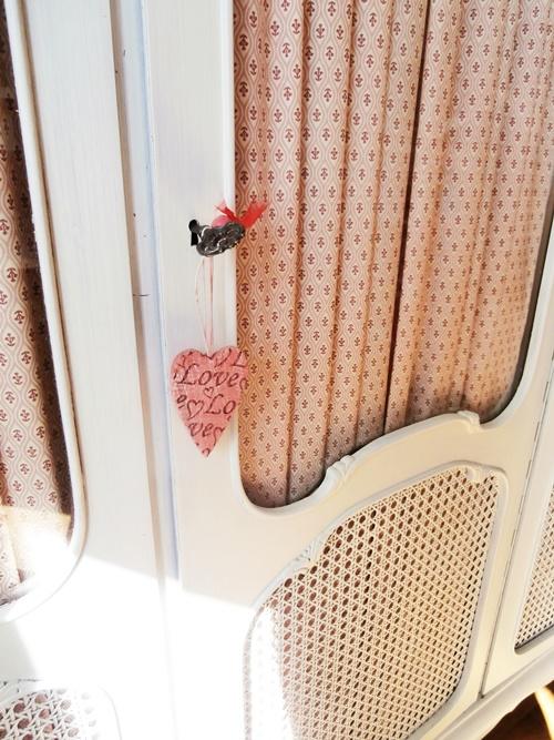 Schrank Vintage Vorhänge DIY Nähen