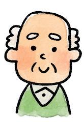 おじいさんの表情のイラスト(通常)