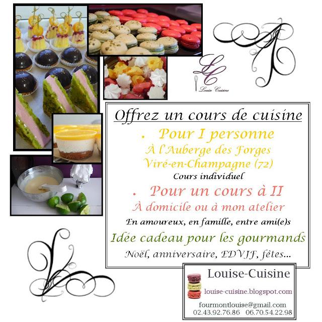 Louise cuisine offrez un cours de cuisine for Week end cours de cuisine