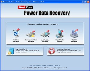 Interface MiniTool Power Data Recovery Free Edition 6.5