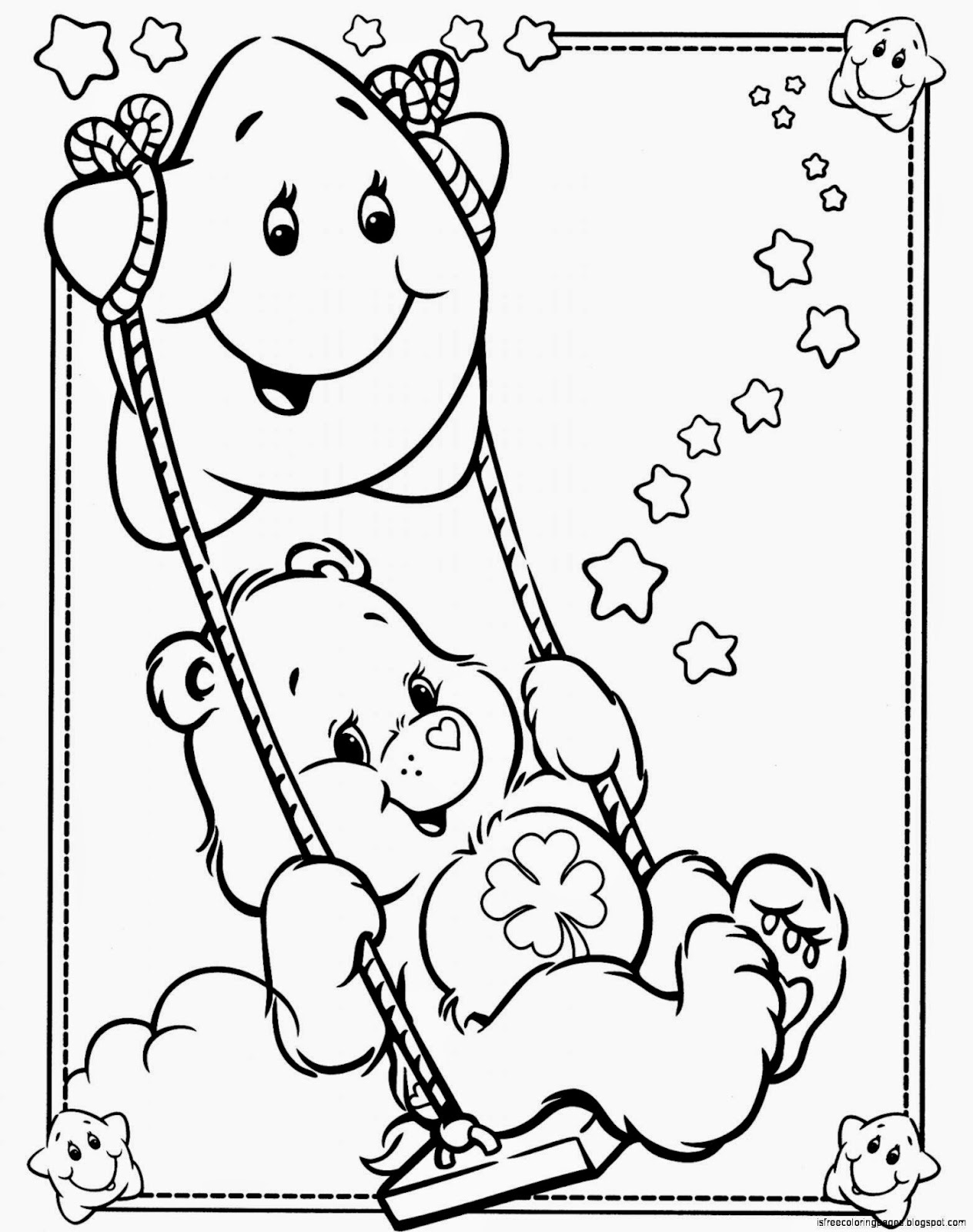 coloring pages for care bares - photo#10