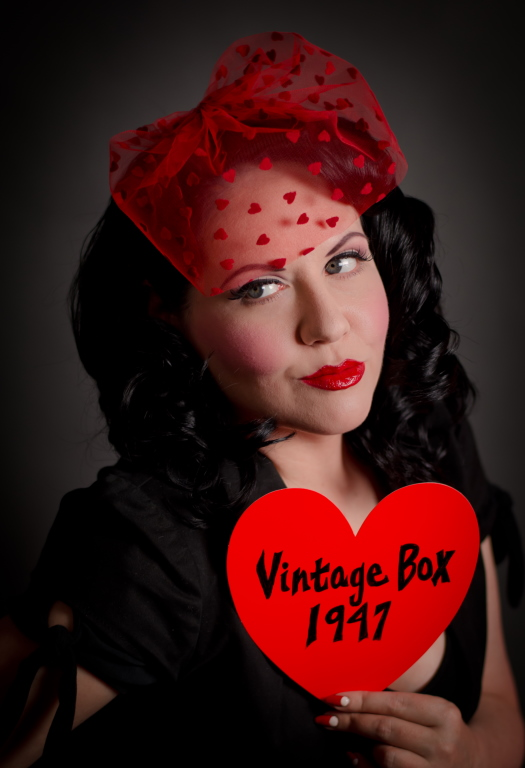 sweetheart veil giveaway from vintage box 1947 va voom vintage