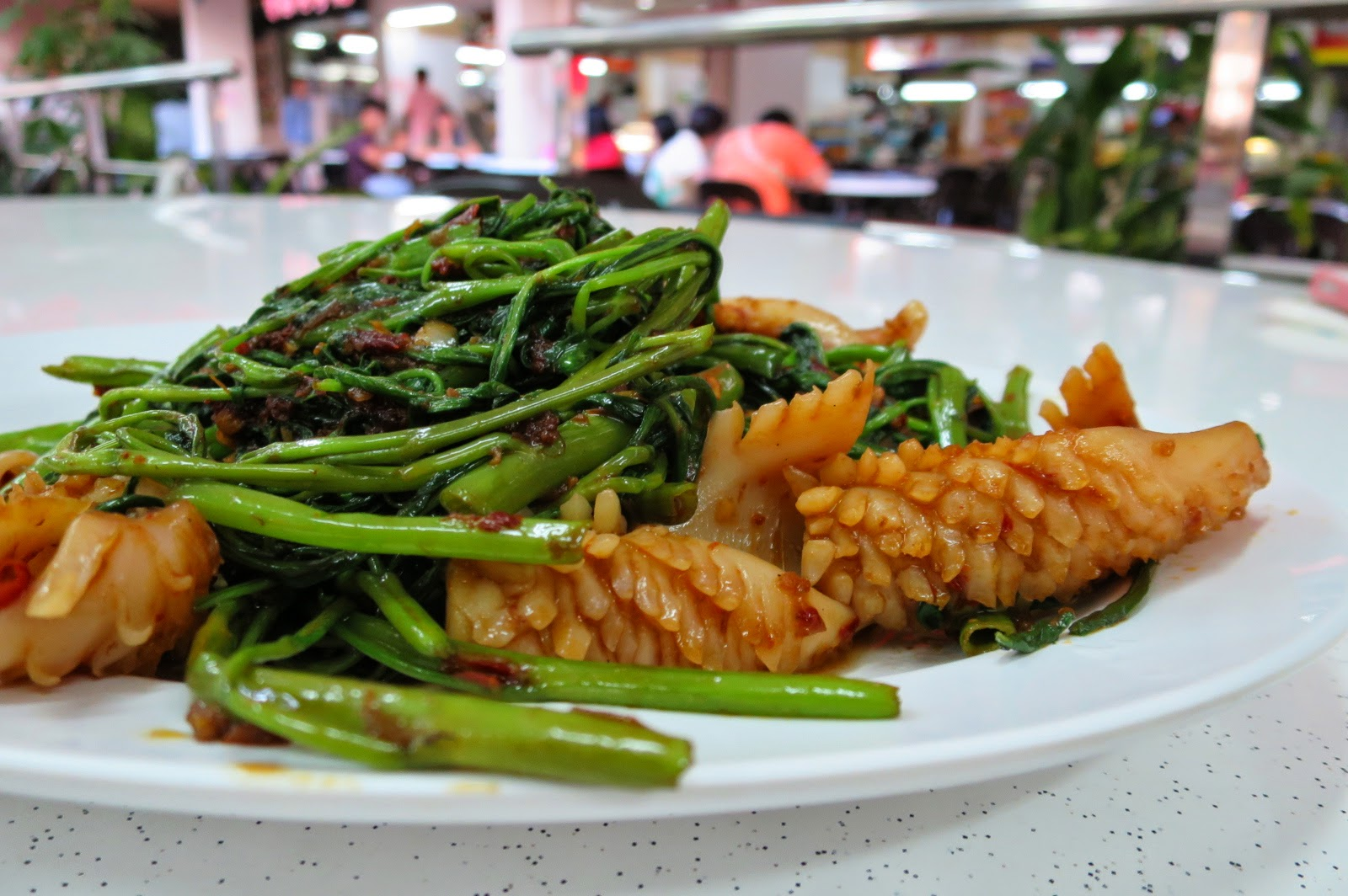 kang kong and cuttlefish....check out how they've scored the cuttlefish