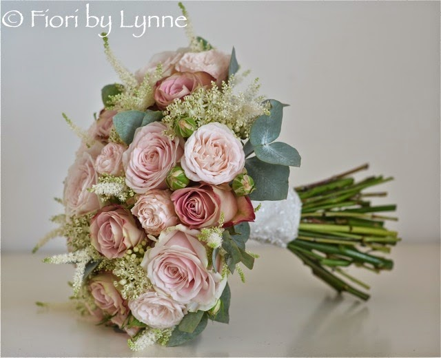 Wedding flowers blog clares vintage style wedding flowers botley park vintage styled dusky pink blush bouquet of mixed roses spray roses asclepia and astilbe with lace wrap to finish mightylinksfo