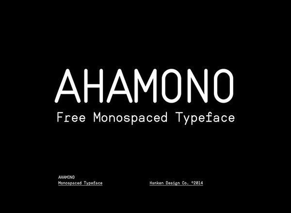 Ahamono free font