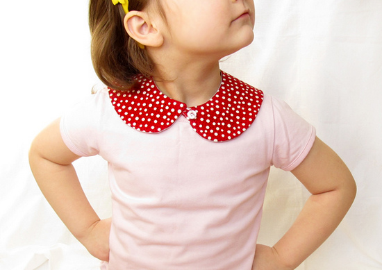 Red Peter Pan, Collar, воротник