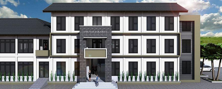 ide design bangunan sekolah modern minimalis