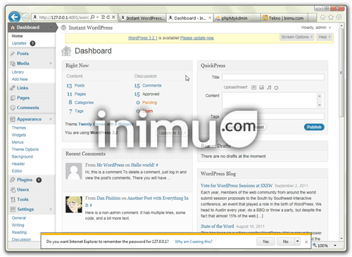 instant-wordpress-03-wordpress-admin