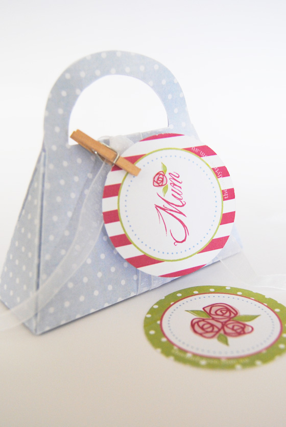 Bright image inside printable gift bags