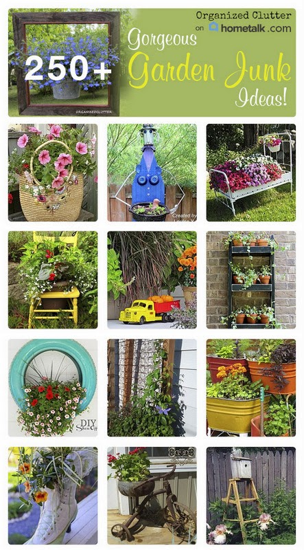 My Hometalk Garden Junk Clipboard www.organizedclutterqueen.blogspot.com