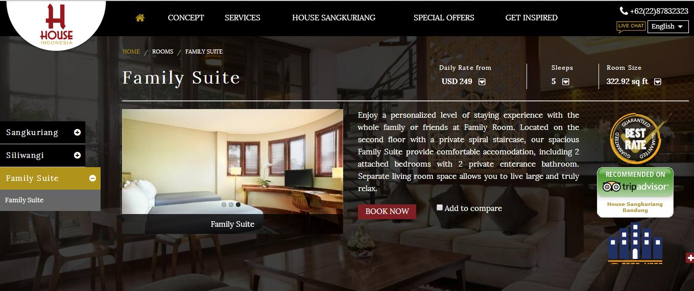 Singgasana resorts Family room