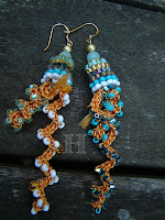 bead crochet earrings by ClearlyHelena