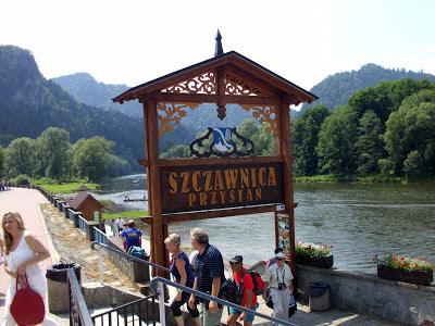 Spływ Dunajcem przystań