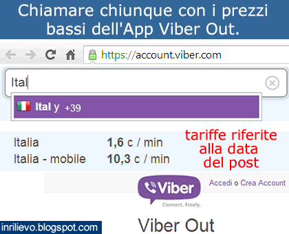 telefonare viber out