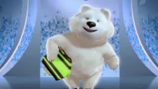 талисман Сочи 2014 белый мишка с шарфом рисунок