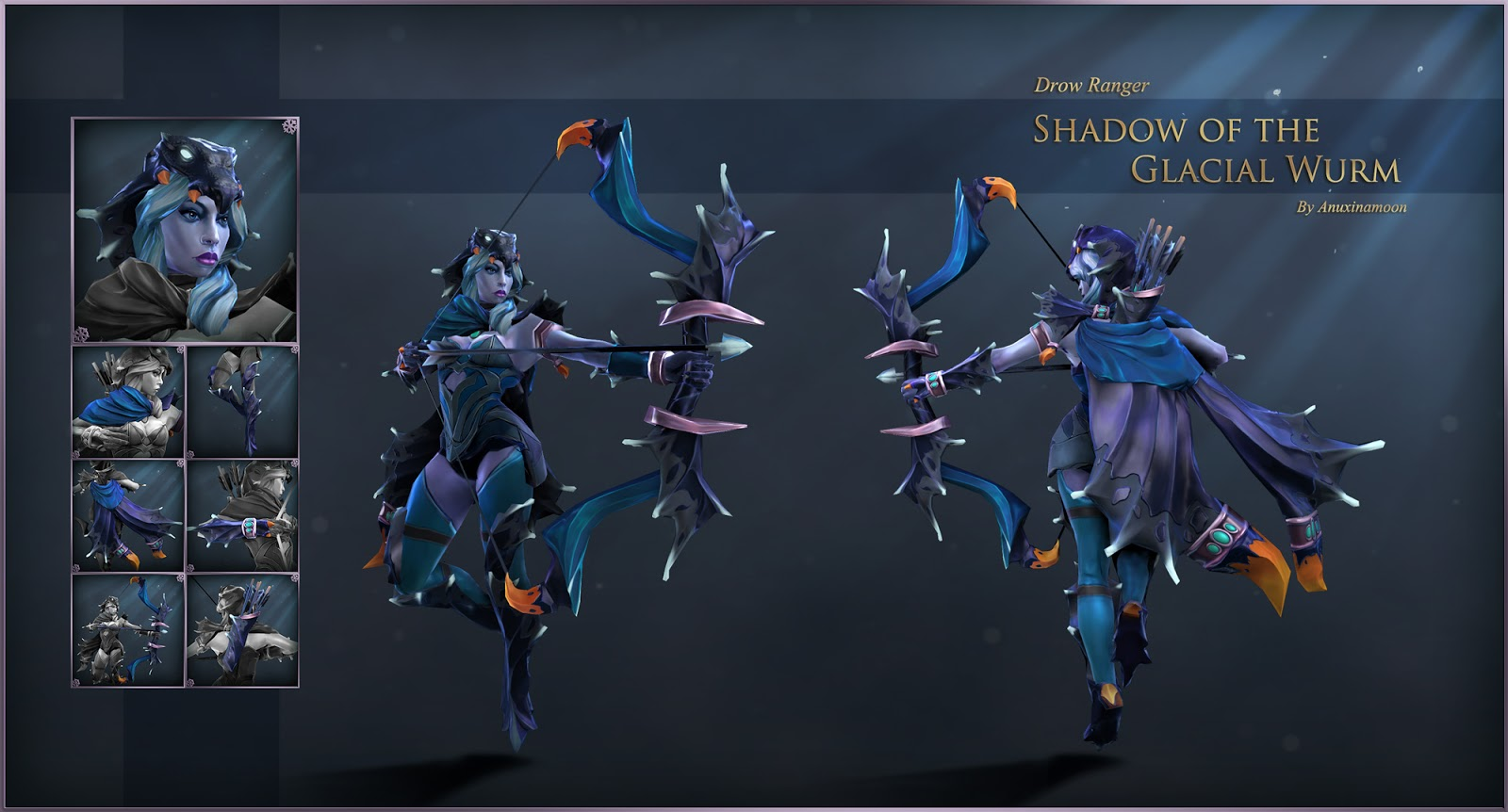 Finished My Glacial Wurm Set For Drow Ranger Anuxi S Dota2 Items