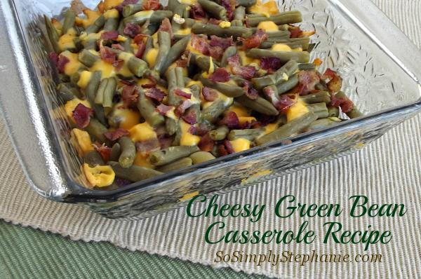 cheesy green bean casserole recipe