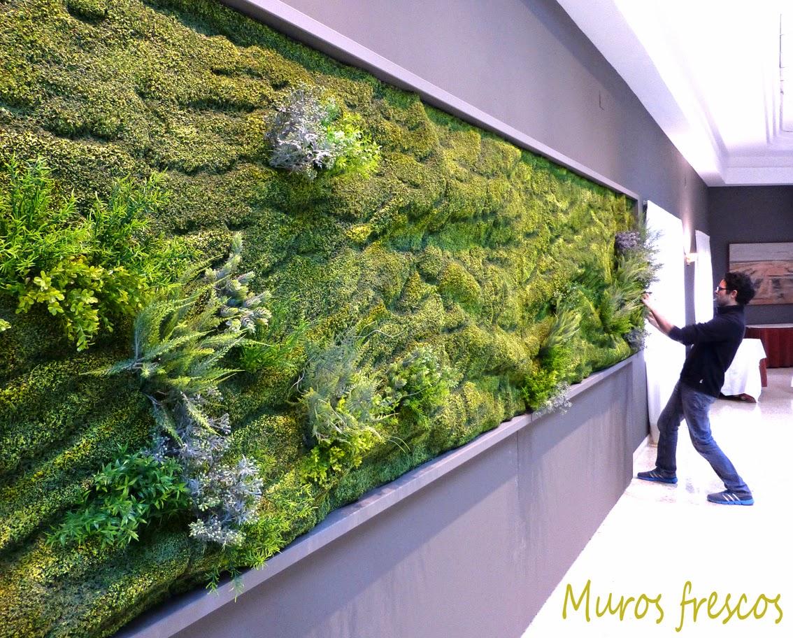 cuaderno de campo y taller jardin vertical sintetico