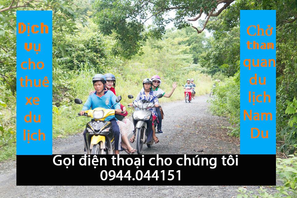 Dịch vụ cho thuê xe, chở tham quan đảo Nam Du