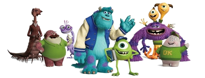 Cartoon Characters: Monsters University