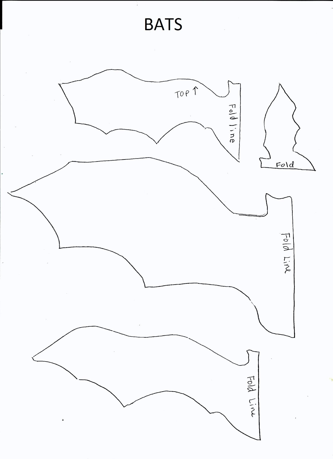Bat drawing template