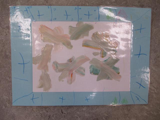 Kinder gestalten Rahmen für Bilder