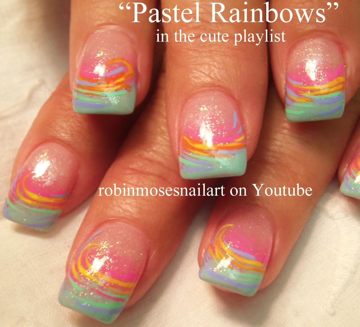 Attractive Cute Rainbow Nail Designs Photo Ensign - Nail Art Ideas ...