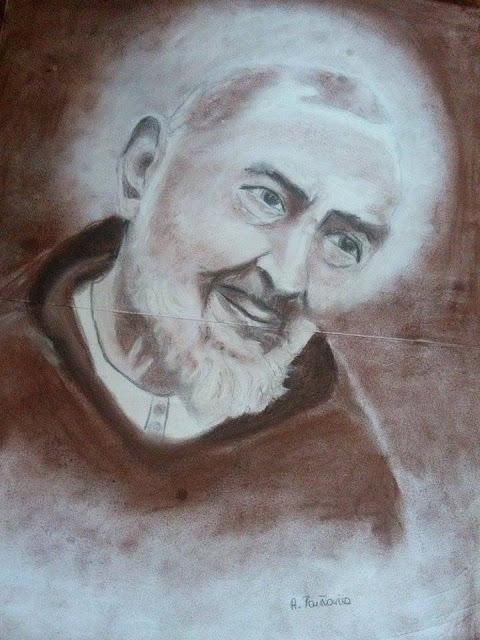 Rysunek - Ojciec Pio