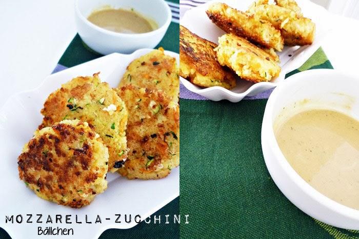 Mozzarella-Zucchini Couscous-Bällchen