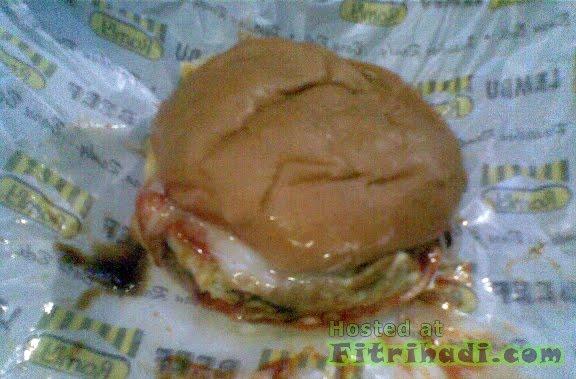 gambar burger berger special gerai ramly ayam daging