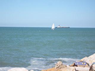 Mar del Plata - Velero y barco arenero