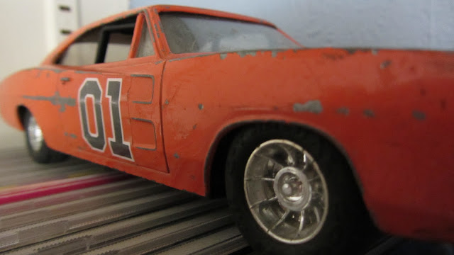 A 1981, cast iron, General Lee toy car from the TV series, The Dukes of Hazzard.