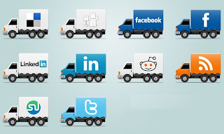 Truck social icon,vehicle social icons