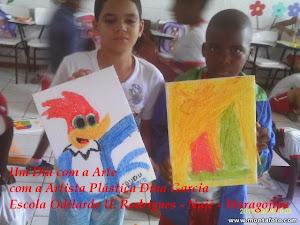 Um dia com Arte - OFICINA DE ARTE COM DINA GARCIA