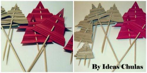 Presentacion Topper con forma de arboles de navidad