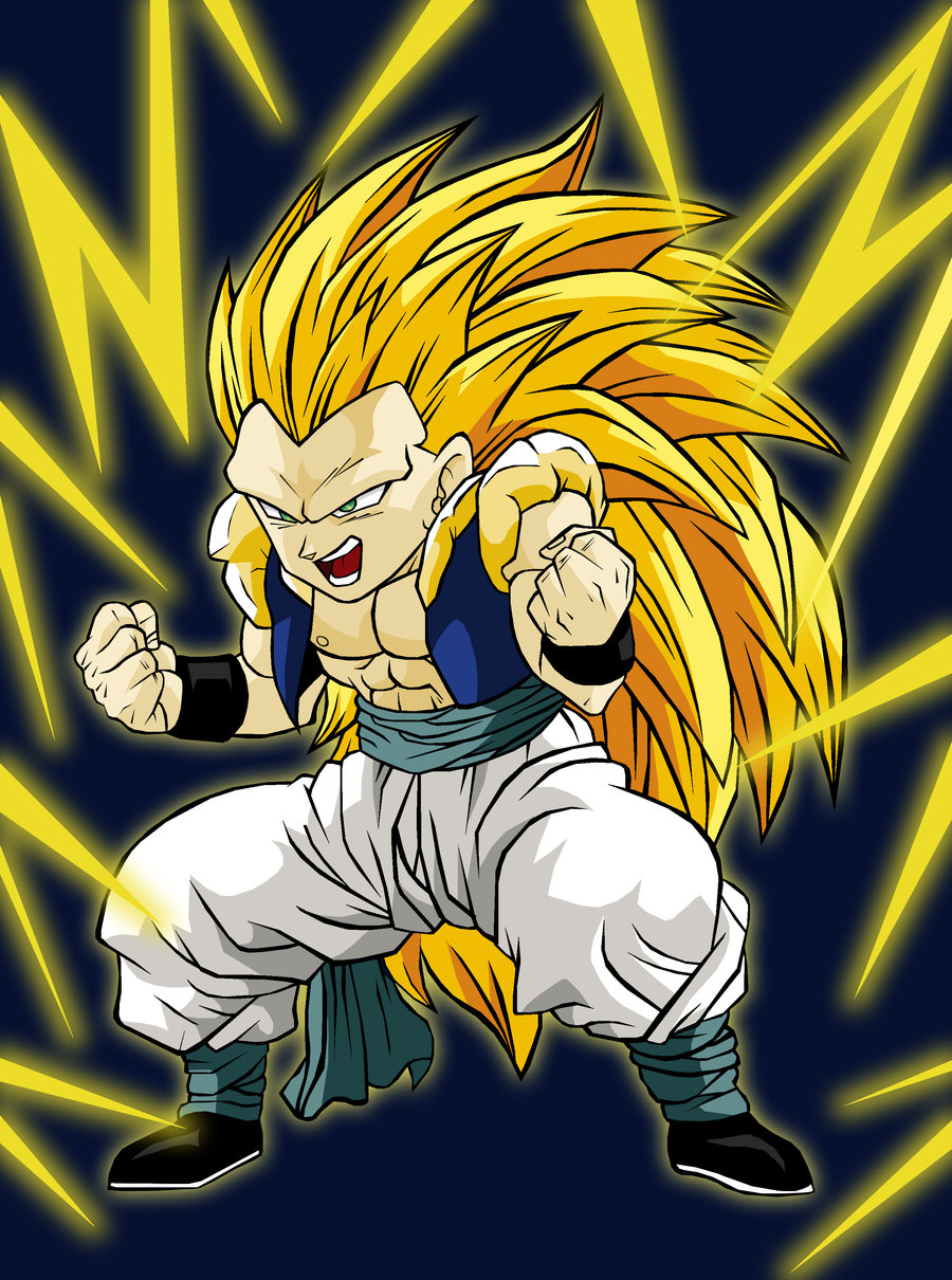 Dragon ball z wallpapers gotenks super saiyan 3 - Dessin de dragon ball ...