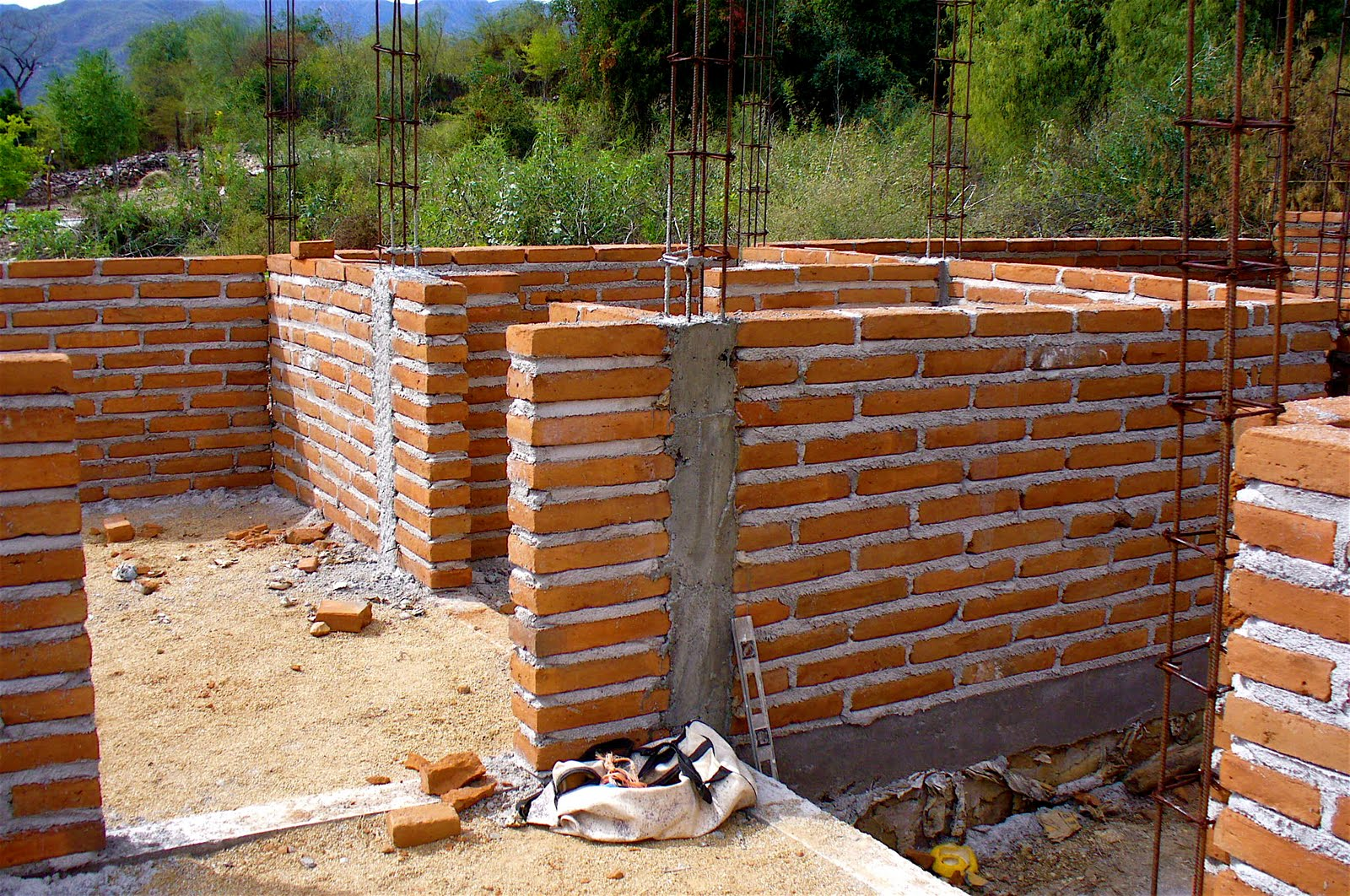 Diy brick house construction