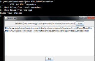 html to pdf converter web pages selection