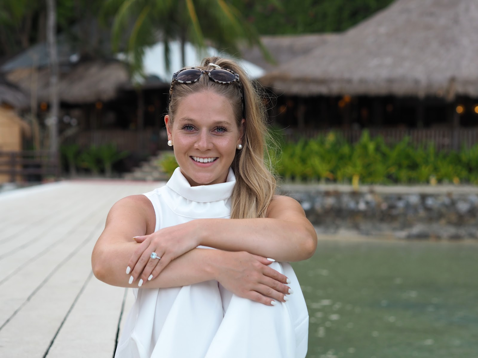 Luxemme white jumpsuit, Katie Matthews
